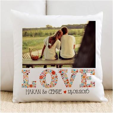 fotoğraflı sevgili yastığı