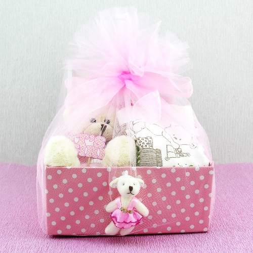 kız bebeğe hediye sepeti