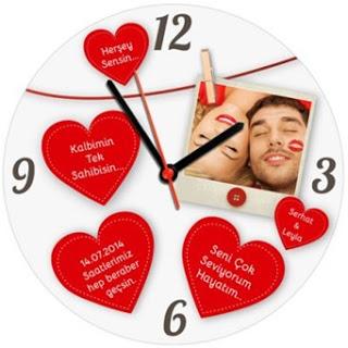 romantik tasarımlı duvar saati