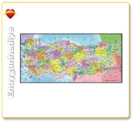 1500 Parça Puzzle Türkiye Siyasi Haritası