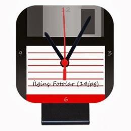 Kişiye Özel Disket Saat