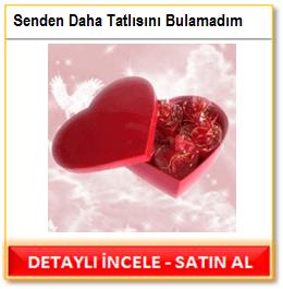 Romantik yılbaşı çikolatası