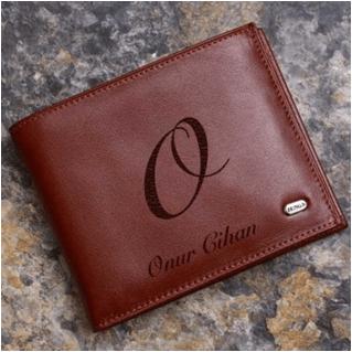 kişiye özel cüzdan isim yazılı
