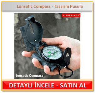 Lensatic Compass - Tasarım Pusula