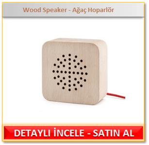 Wood Speaker - Ağaç Hoparlör