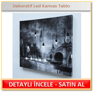 Dekoratif Led Kanvas Tablo