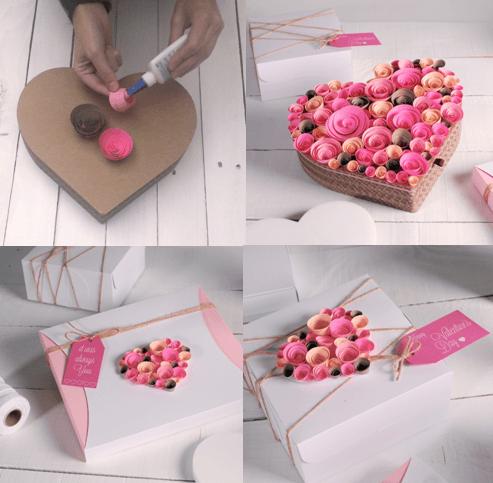 Sevgiliye hediye kutusu yapmak