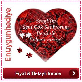 Kişiye Özel Kalp Kutuda Konuşan Kalp Puzzle