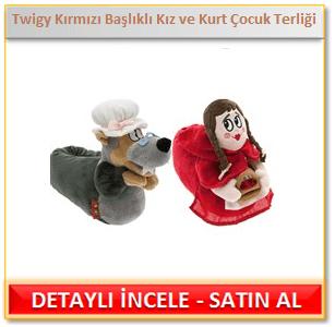 Twigy Kırmızı Başlıklı Kız ve Kurt Çocuk Terliği