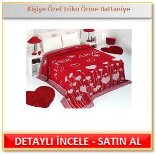 Kişiye Özel Triko Örme Battaniye