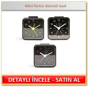 Mini Retro Alarmlı Saat