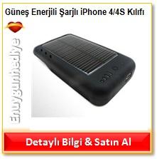 Güneş Enerjili Şarjlı iPhone 4/4S Kılıfı