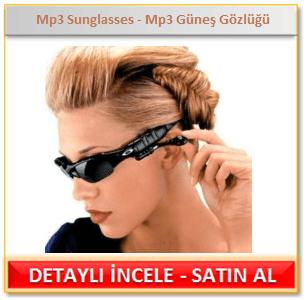 Mp3 Sunglasses - Mp3 Güneş Gözlüğü