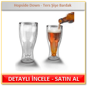 Hopside Down Ters Şişe Bardak