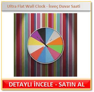 Ultra Flat Wall Clock - İsveç Duvar Saati