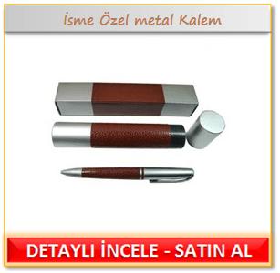 İsme Özel metal Kalem - Deri Tüp İçinde