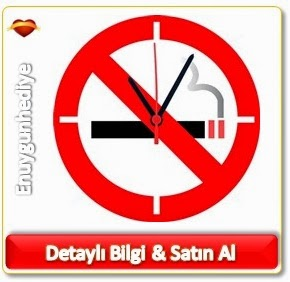 No Smoking Duvar Saati