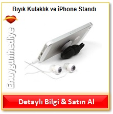 Bıyık Kulaklık ve iPhone Standı