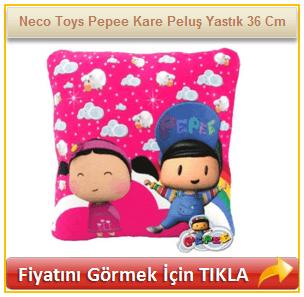 Neco Toys Pepee Kare Peluş Yastık 36 Cm