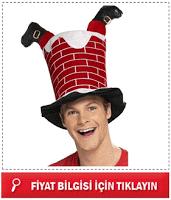 Bacadan Giren Noel Baba Şapkası erkek
