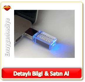 Kişiye Özel LED Işıklı Akrilik USB Bellek