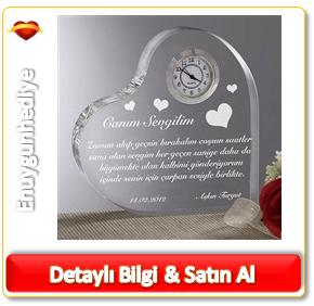 Kişiye Özel Aşk Mesajlı Kalp Saat