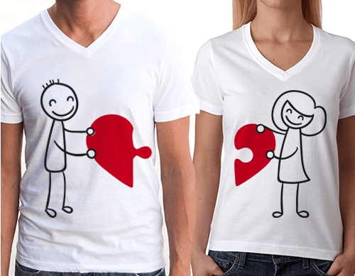 Sevgili tişört modelleri