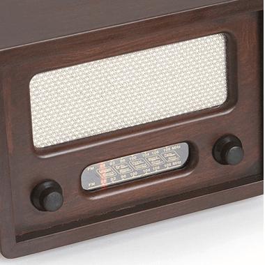 klasik ahşap radyo
