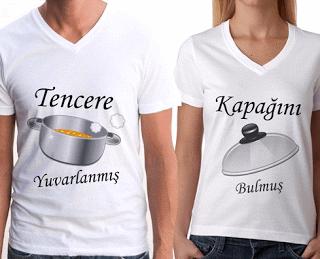Sevgililere özel tişört modelleri
