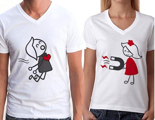 çiftlere özel tişörtler