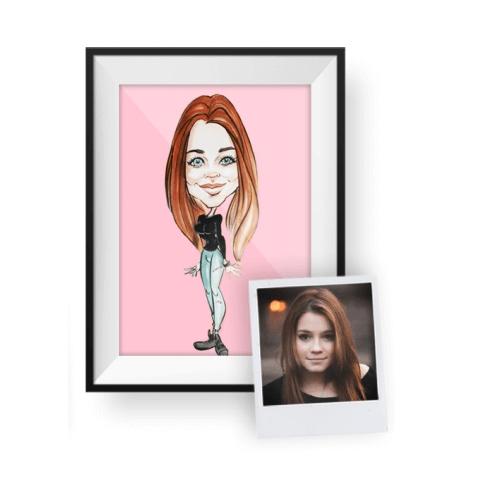kişiye özel portre karikatür
