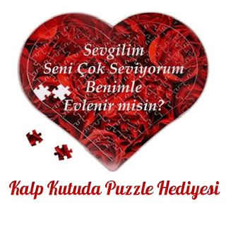 Kişiye özel kalp puzzle