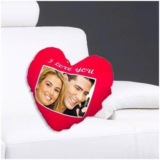 I Love You Yazılı Fotoğraflı Yastık