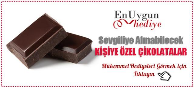 kişiye özel mesajlı çikolatalar