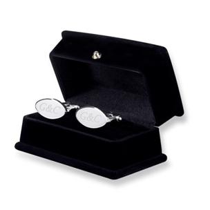 Kişiye Özel Gümüş Kaplama Kare Kol Düğmesi