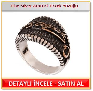 Atatürk imzalı erkek yüzük