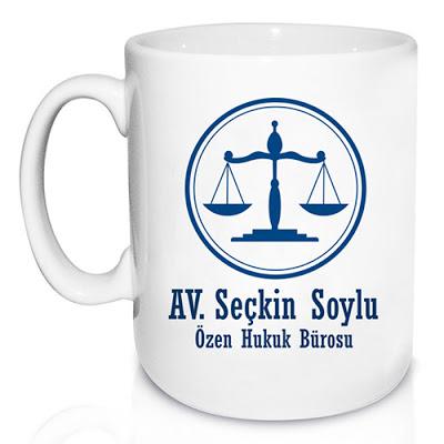 avukata özel kupa bardak