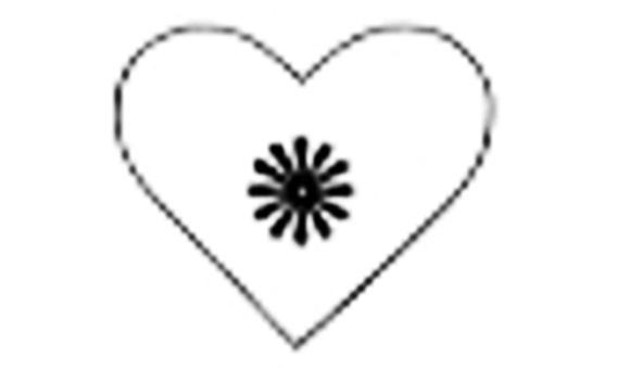 keçe kalp kitap ayracı