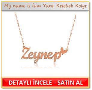 My name is - İsim Yazılı Kelebek Kolye