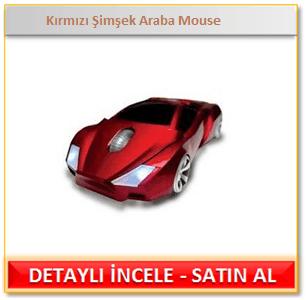 Kırmızı Şimşek Araba Mouse