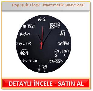 Pop Quiz Clock - Matematik Sınav Saati