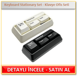 Keyboard Stationary Set - Klavye Ofis Seti