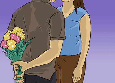 Sevgiliye çiçek hediye etmek