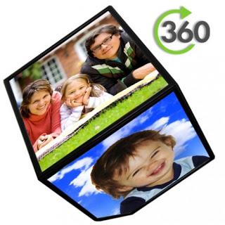 360 derece Dönen Küp Resim Çerçevesi