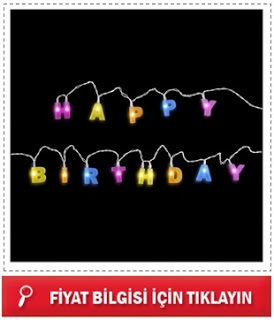 Happy Birthday LED Parti Işığı