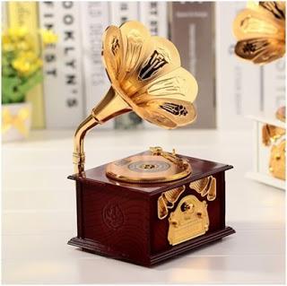 hediye Gramofon Müzik Kutusu