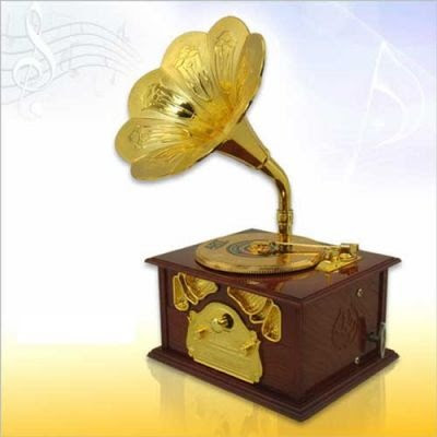 hediyelik Gramofon Müzik Kutusu