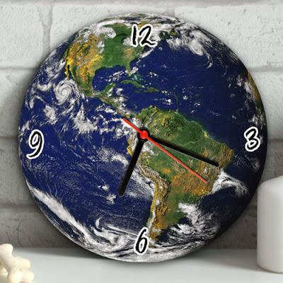 Gezegenimiz Dünya Duvar Saati