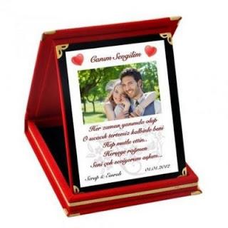 kişiye özel fotoğraflı plaket