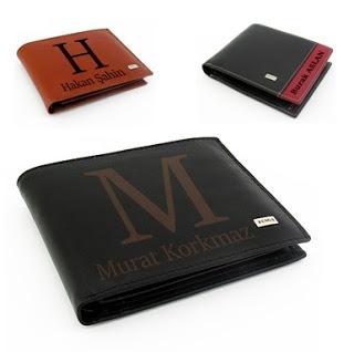 Erkek cüzdan isme özel